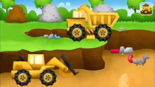 Trucks! Construction Site Game App Demo: Concrete Mixer, Bulldozer, Excavator & Haul Truck