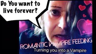 ⭐️ASMR⭐️ Romantic Vampire feeding:Turning you into a Vampire!