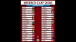 Danh sách 32 đội tuyển tham gia World Cup 2018