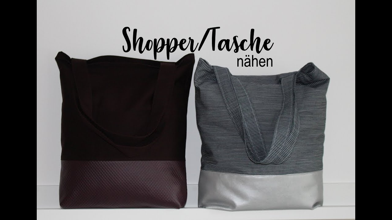 Shopper/Tasche nähen | Joina215 - YouTube
