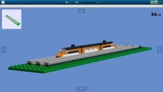 Как сделать микро поезд из Lego  + Железная Дорога!   How to make a micro train from Lego(Всем привет, в сегодняшнем видео я хочу вам показать как сделать мини корабль из лего. Детали которые нужны..., 2016-04-13T12:31:54.000Z)