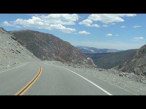 California State Route 20 Descending Tioga Pass from Yosemite