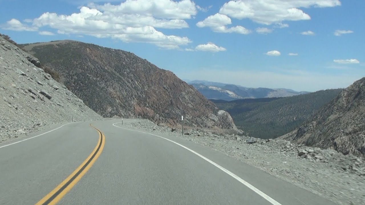 California State Route 20 Descending Tioga Pass from ...