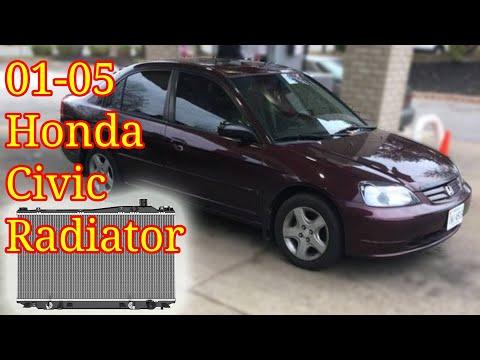 2001 – 2005 Honda Civic Radiator Replacement | How To DIY | EX LX DX