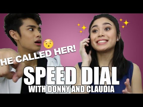 Claudia Barretto & Donny Pangilinan - SPEED DIAL CHALLENGE