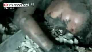 Syria girl from under the rubble, I want water