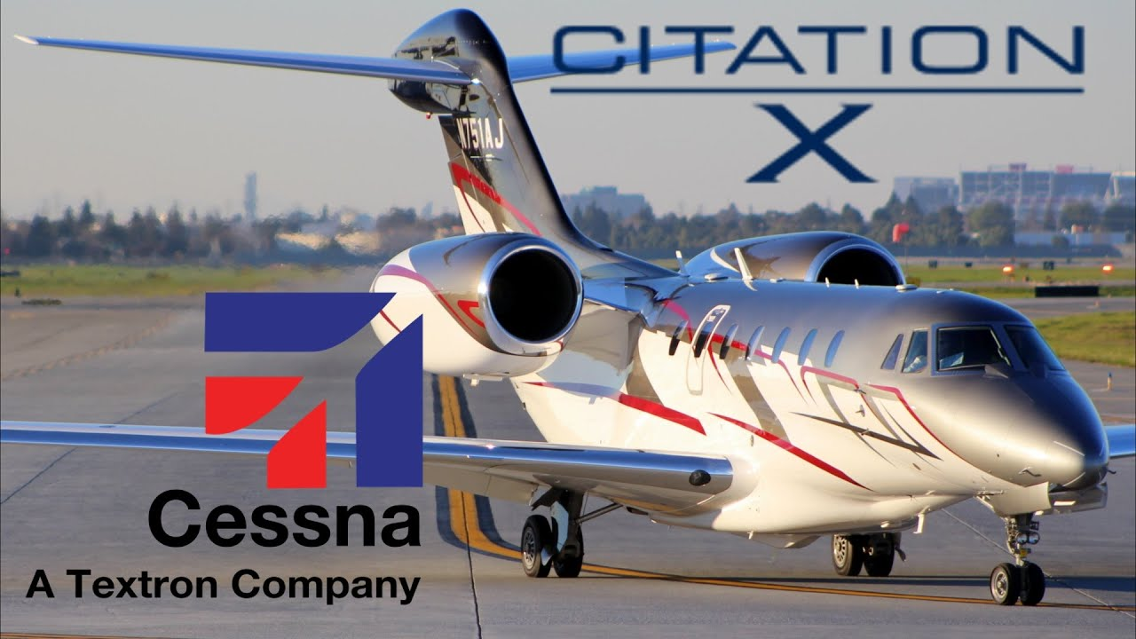 Download HD Absolutly Beautiful Cessna 750 Citation X N751AJ Takeoff from San Jose International Airport
