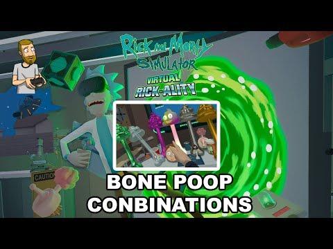 BONE POOP COMBINATIONS! | Rick and Morty Simulator: Virtual Rick-ality