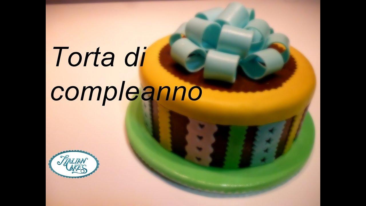 Torta Di Compleanno Semplice In Pasta Di Zucchero By Italiancakes
