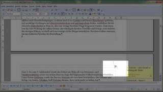 2. Teil Kopf- und Fußnoten und Seitennummern mit OpenOffice Writer einfügen