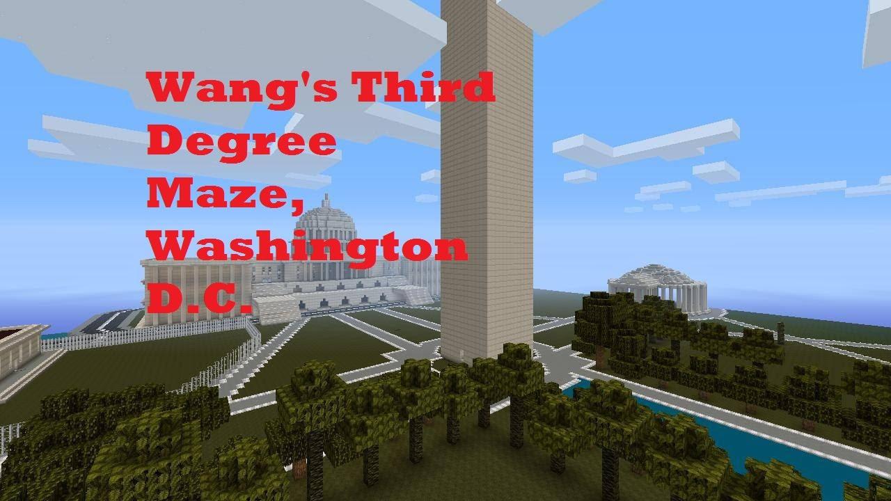 Washington DC Third Degree Maze in Minecraft on Xbox 360 YouTube