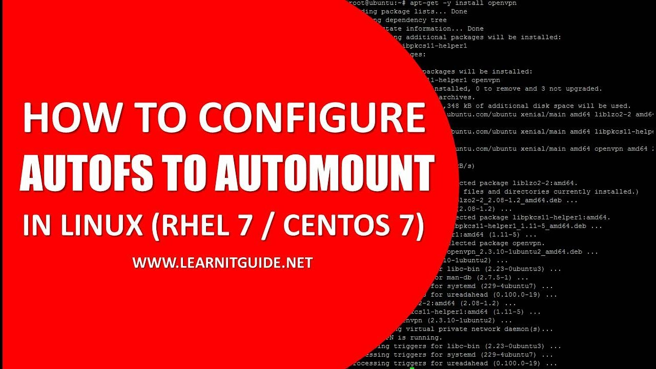 Configure AutoFS to automount the file systems on demand in Linux - Step by  Step Procedure