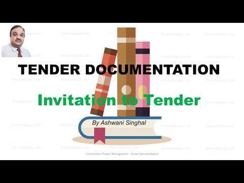 Project Tender Documentation - Invitation to tender