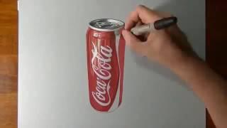 3D Menggambar  Coca Cola