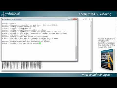 How to Setup a Cisco Router VPN (Site-to-Site):  Cisco Router Training 101