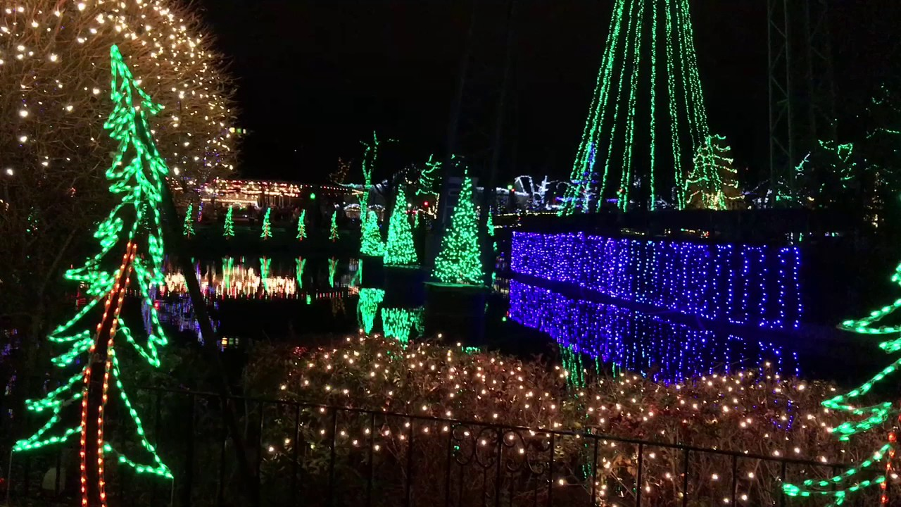 Kennywood Holiday Lights 2016 - YouTube