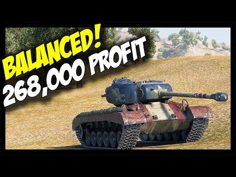 ► 268,000 Credits Profit - Balanced! - World of Tanks T26E5 Patriot Gameplay