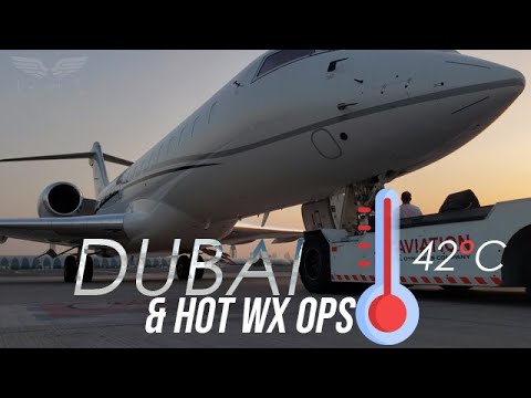 Global Express - Hot Weather Ops in Dubai, UAE - 4K [With AT