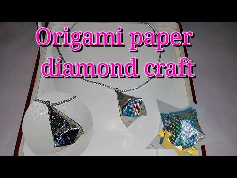 #PaperDiamond #diy How to make a paper diamond