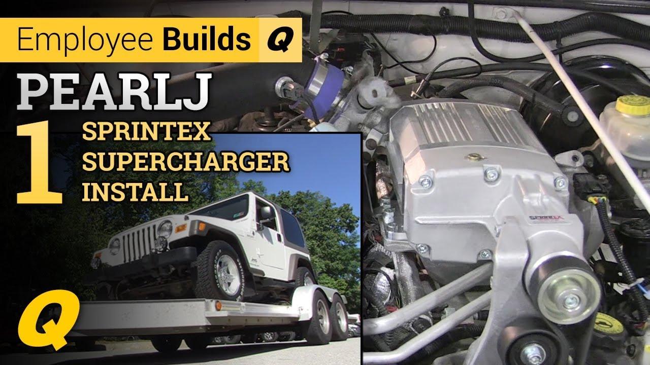 Project Pearlj Part 1 Sprintex Supercharger Install