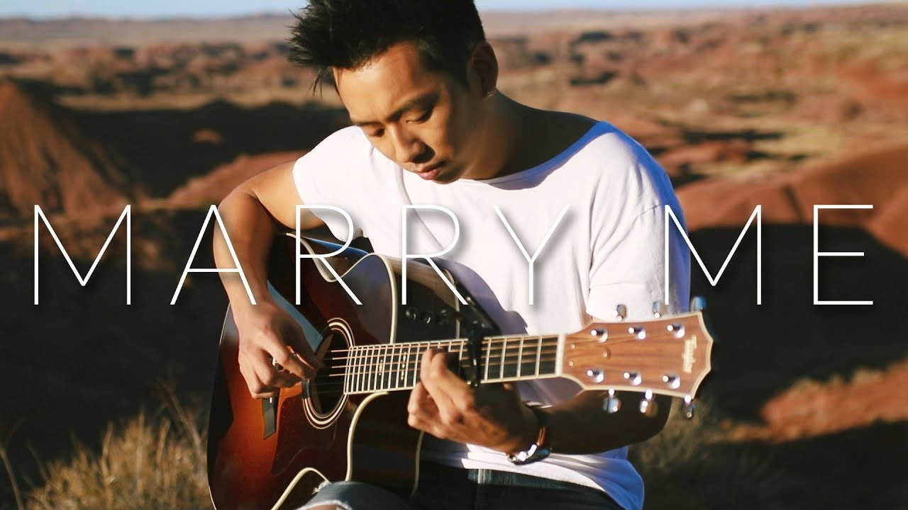 Marry Me Train Fingerstyle Acoustic Guitar Cover Youtube