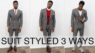 HOW TO STYLE A SUIT 3 WAYS: DOUBLE BREASTED