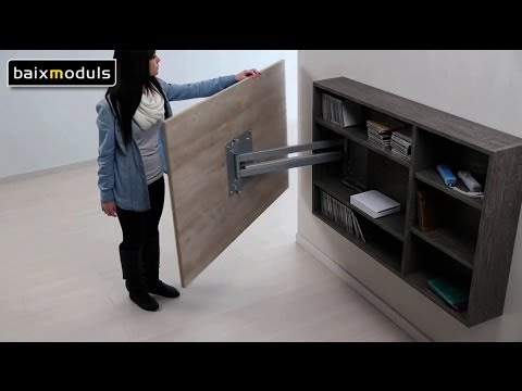 Mueble television giratorio 08 youtube for Mueble que esconde tv