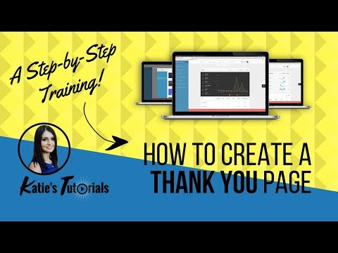 How To Create a Thank You Page
