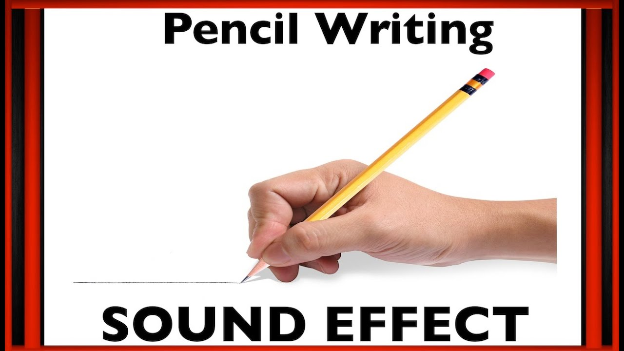 Pencil writing sound effect sfx hd