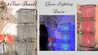 Diy 3 Tier Lighting Using Dollar Tree Items| Simple and Inexpensive Home Accent Decor!