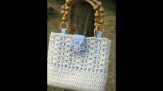 Узор для красивой сумки на осень крючком