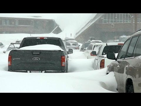 SIERRA BLIZZARD: Raw video of blizzard from Mammoth Mountain ski resort