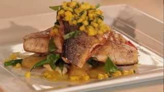 Mediterranean Sea Bass Fillets With Mango Salsa
