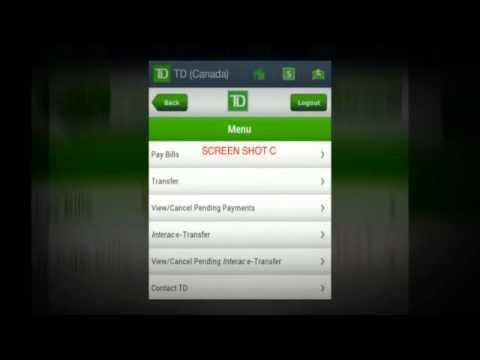 TD Canada Trust easyweb app