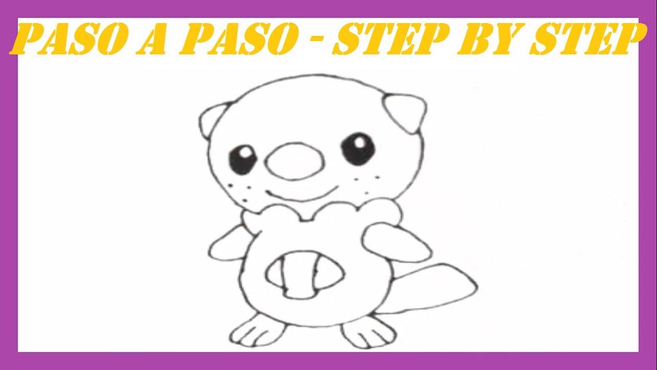 Como dibujar a Oshawott Pokmon l How to draw Pokemon Oshawott