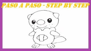 Como dibujar a Oshawott Pokémon l How to draw Pokemon Oshawott