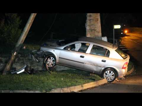 Car Collides With Utility Pole Southampton Bermuda December 31 2011
