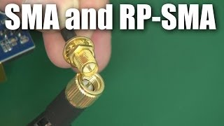 SMA and RP-SMA connectors for RC planes