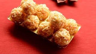 Caramel puffed rice snack, caramel pori urundai