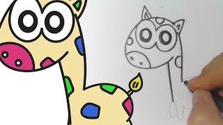 Cómo dibujar una Jirafa II