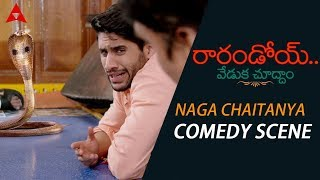 Naga Chaitanya & Rakul Preet Snake Comedy Scene - Rarandoi Veduka Chuddam Movie