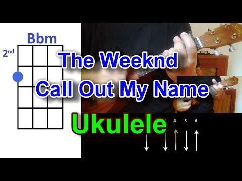 The Weeknd Call Out My Name Ukulele Cover