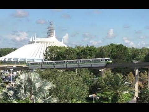Walt Disney World Monorail Loop on a Rainy Florida Day