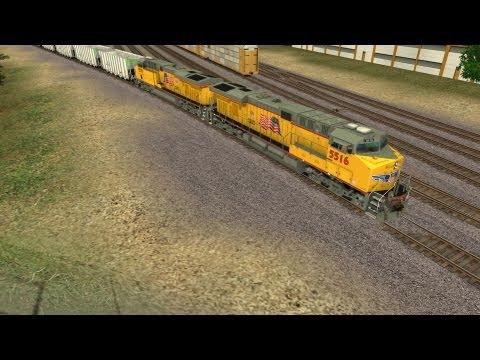[HD] TrainzWatching: CSX T081 with UP Power NB (Trainz Simulator 12)  