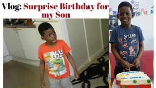 A Surprise Birthday for my Son { He was SHOCK€D }😍😍😍😍😍