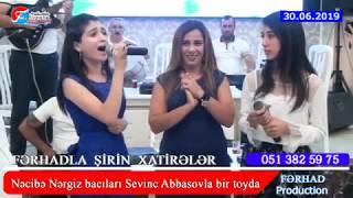Necibe Nergiz bacıları Sevinc Abbasova ile bir toyda
