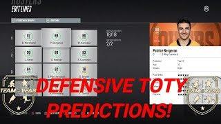 NHL 18 - DEFENSIVE TOTY PREDICTIONS!