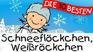 Schneeflöckchen Weißröckchen - Weihnachtslieder zum Mitsingen || Kinderlieder