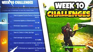 Fortnite Season 5 Week 10 Challenges! Treasure Map & All Jigsaw Puzzle Piece Locations