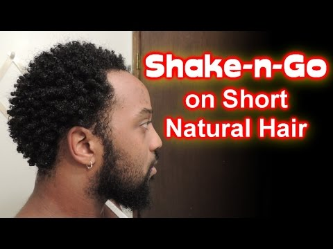 #577 - Shake-N-GO Style on Short Natural Hair | No Products